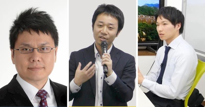 佐藤晴彦さん、森田拓真さん、会田周作さん